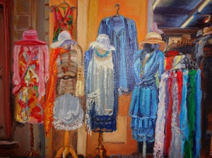 Dress shop in Collioure, France